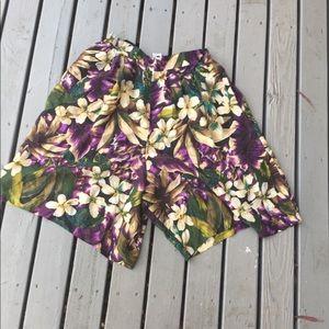 Vintage Purple Silk Tropical Shorts 💜💜💜